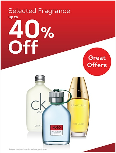 Selected Fragrances 40% off