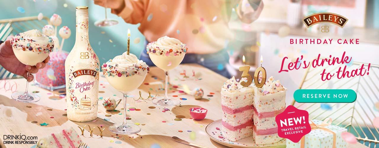 NEW Baileys Birthday Cake
