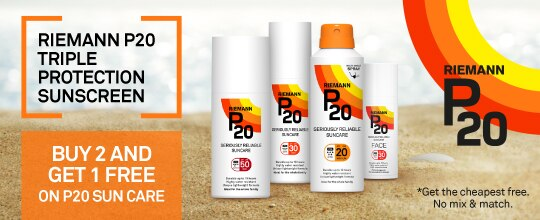 P20 - 3 for 2 on sun care