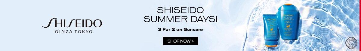 Shiseido - 3 for 2 on sun car offer