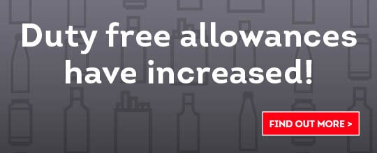 Duty Free allowances have increased